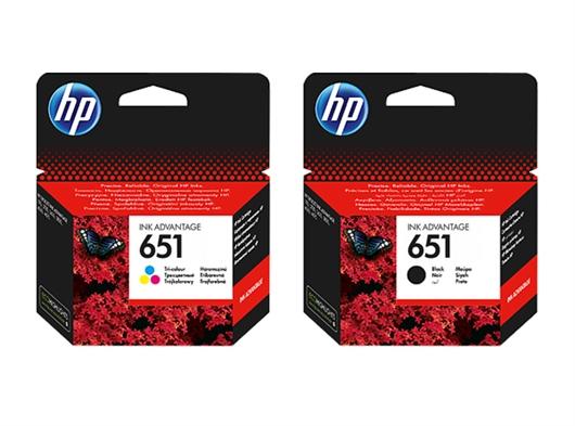 Komplet tinta HP nr.651 (BK + CMY), original