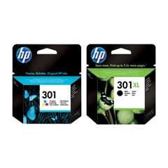 Komplet tinta HP nr.301 (u boji) + nr.301 XL (crna), original
