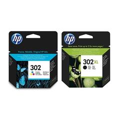 Komplet tinta HP nr.302 (u boji) + nr.302 XL (crna), original