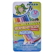 Bojice Jolly Kinderfest Supersticks Aqua, 12 komada