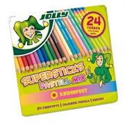 Bojice Jolly Kinderfest Pastellmix, 24 kom