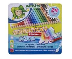 Bojice Jolly Kinderfest Supersticks Aqua, 24 komada