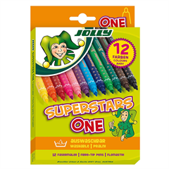 Flomasteri Jolly Superstar One, 12 komada