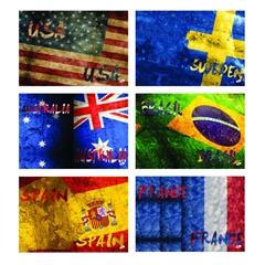 Bilježnica A4, bezcrta, 52 l, zastave