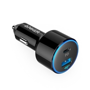 Punjač za auto USB-C Anker PowerDrive Speed II, crni