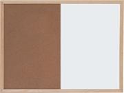 Ploča piši briši + pluto Optima, 60 x 90 cm, drvena