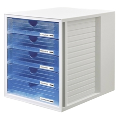 Ladičar Han System Box, zatvoren, prozirni plavi