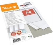 Omoti za termičko uvezivanje Peach PBT303-01, 3 mm, bijela, 20 komada