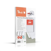 Omoti za termičko uvezivanje Peach PBT306-01, 6 mm, bijela, 20 komada
