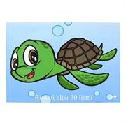 Blok za crtanje A3, 30 listova, 140 g, kornjača