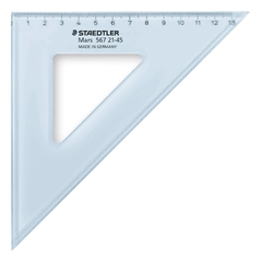 Trokut Staedtler, 45°, 21 cm, plavi