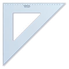 Trokut Staedtler, 45/45°, 36 cm, plavi