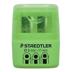 Šiljilo Staedtler PVC, dvostruko, neon zelena