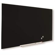 Zidna staklena ploča Nobo Diamond, 38,1 x 67,7 cm, crna