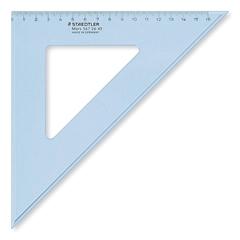 Trokut Staedtler, 45/45 °, 26 cm, prozirna plava