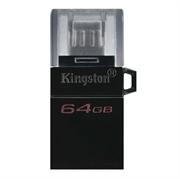 USB stick Kingston DT microDUO G2, 64 GB, microUSB i USB, crna