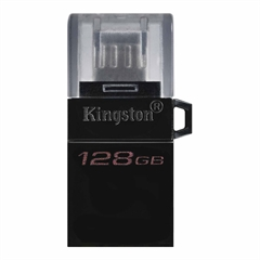USB stick Kingston DT microDUO G2, 128 GB, microUSB i USB, crna