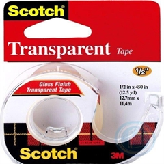 Ljepljiva traka s držalom 3M Scotch, transparentna, 12,7 x 11,4 mm