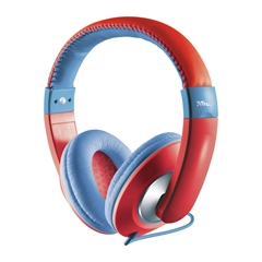 Slušalice za djecu Trust Sonin, crvena
