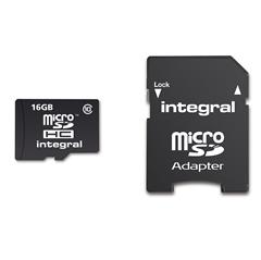 Memorijska kartica Integral Micro SDHC Class10, 16 GB + adapter