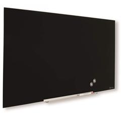 Zidna staklena ploča Nobo Diamond, 55,9 x 99,3 cm, crna