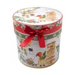 Novogodišnja poklon kutija, ovalna, mala