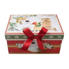 Novogodišnja poklon kutija, pravokutna, srednje veličine