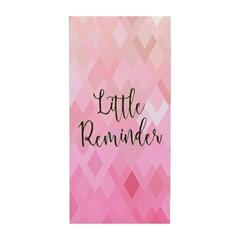 Blok s listićima Reminder, mali, roza, 80 l