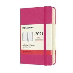 Džepni dnevni planer 2021 Moleskine, tvrde korice, 12 mjeseci, ružičasta