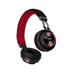 Slušalice SBS DJ Up, Bluetooth, crvena