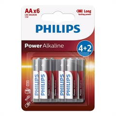 Baterija Philips Power Alkaline AA-LR6, 4 komada