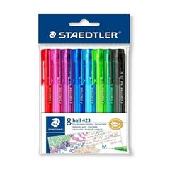 Kemijska olovka Staedtler 423, 8 komada, sortirano