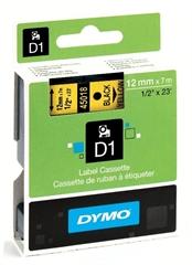 Traka Dymo D1 450180, 12 mm / 7 m (crna/žuta), original
