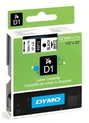 Traka Dymo D1 450130, 12 mm / 7 m (crna/bijela), original