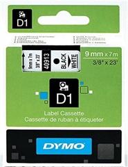Traka Dymo D1 409130, 9 mm / 7 m (crna/bijela), original
