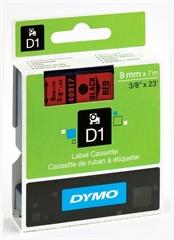 Traka Dymo D1 40917, 9 mm / 7 m (crna/crvena), original