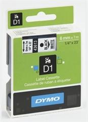 Traka Dymo D1 43613, 6 mm / 7 m (crna/bijela), original