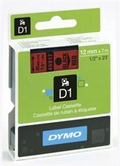 Traka Dymo D1 45017, 12 mm / 7 m (crna/crvena), original