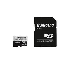 Memorijska kartica Transcend Micro SDXC 330S, 64 GB + SD adapter