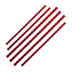 Plastične spirale Fellowes, 6 mm, crvene, 25 komada