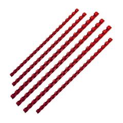 Plastične spirale Fellowes, 10 mm, rdeče, 25 komada