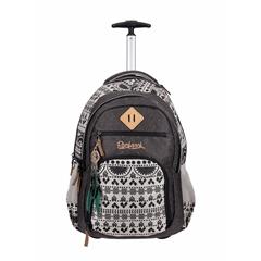 Školski ruksak na kotačima Rucksack Only Trolley, Tribal Black