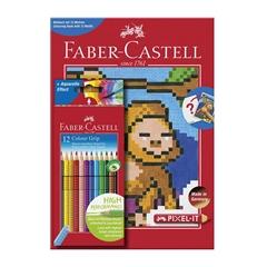 Bojice Faber-Castell Grip, 12 komada + bojanka Pixel